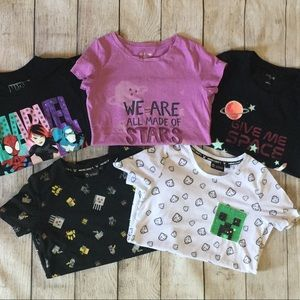 🤓👾💫 Geeky Gamer Girl T-Shirts - Lot of 5
